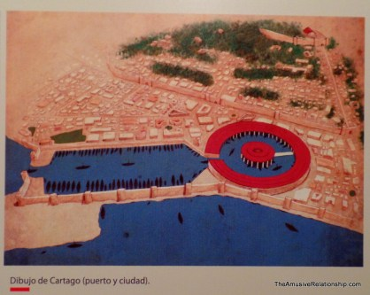 Carthaginian boat docks as depicted in the museum