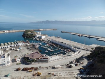 Fishing port and ferry to Spain