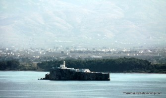 A Spanish military base on a nearby island