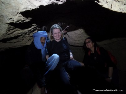 Anya and Noa posing with our guide