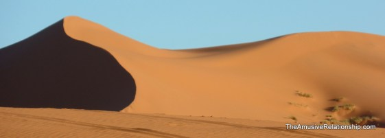 A dune pattern that I thought resembled a reclining woman