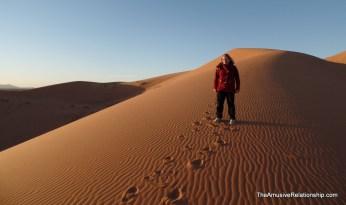 Anja in the desert