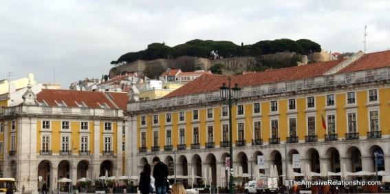 Saint Jorge's Castle as seen from Praça do Comercion overlooking the city