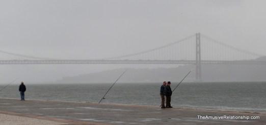 Fishing along the coast