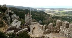 The sprawling,serpentine walls of the Moorish Castle