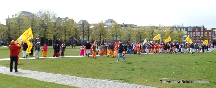 Hari Krishnas parading through Museumplein