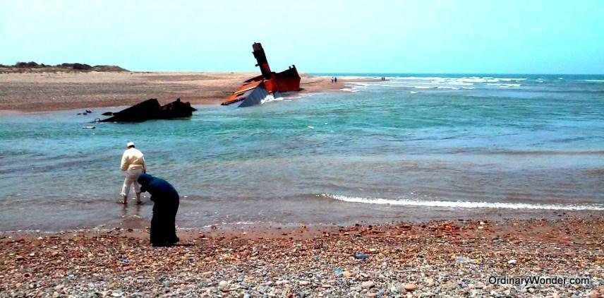 Sunken ship in the Azemmour delta