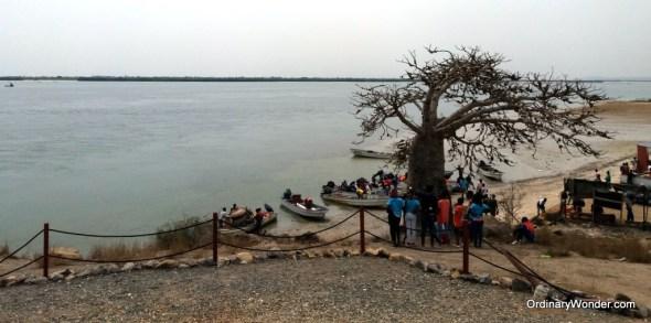Fishermen coming ashore