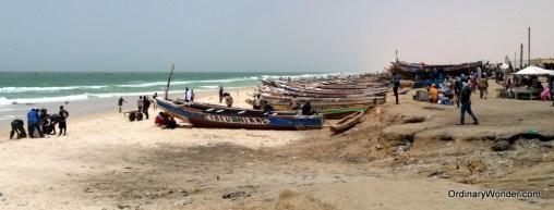 Beach near the fishing port