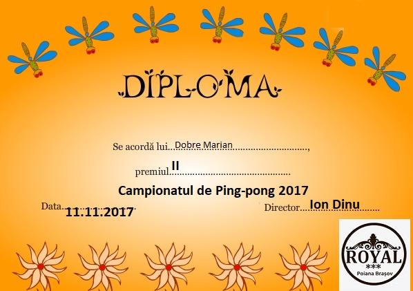 diploma ping-pong