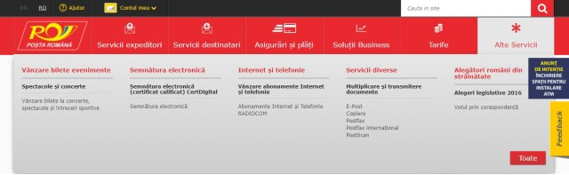 Alte Servicii Posta Romana