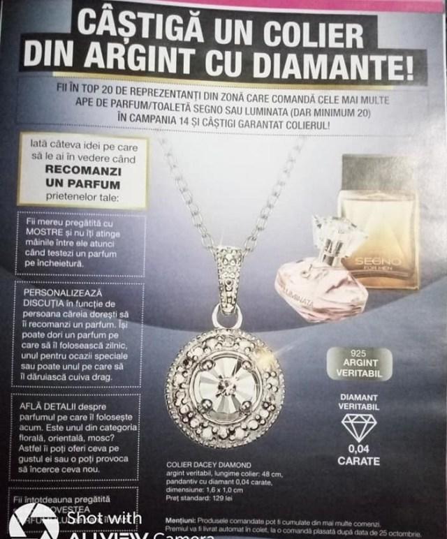 colier din argint Avon