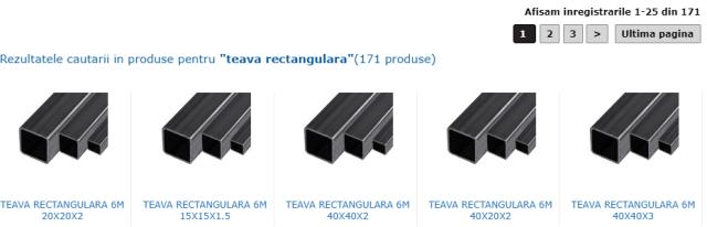 tipuri de teava rectangulara