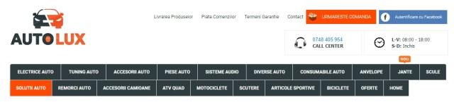 categorii in autolux.ro
