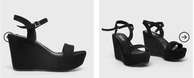 sandale negre cu platforme