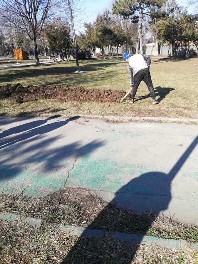 muncitor parc humulesti