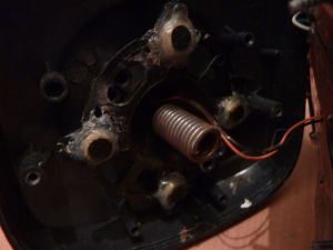Zoom sur la colle du joystick