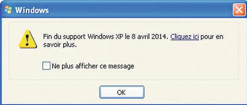 Fin du support pour Windows XP