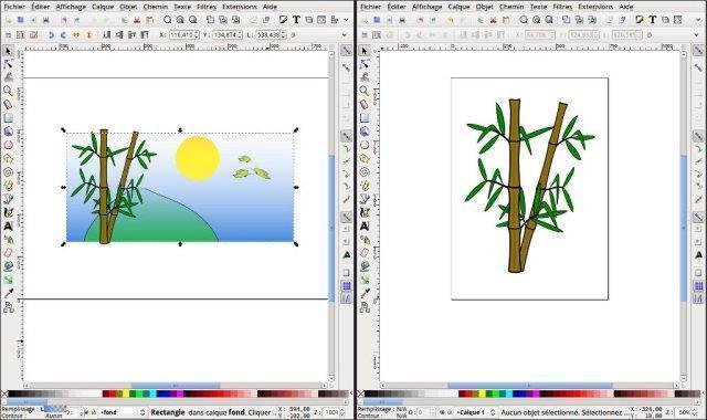 Bambous paysage Inkscape
