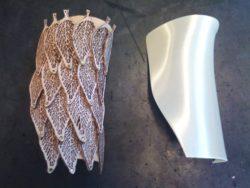 décoration feuilles en cuir