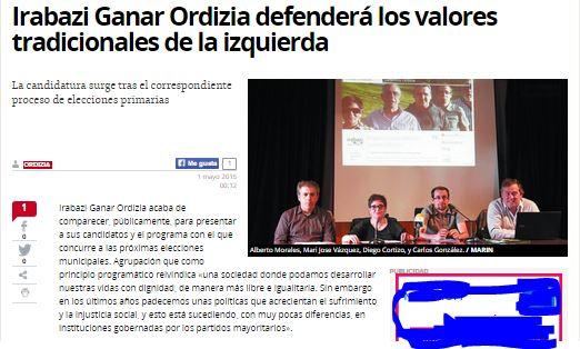 noticia dv presentacion IRABAZI GANAR ORDIZIA