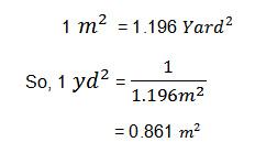 Some important textile unit conversion factor