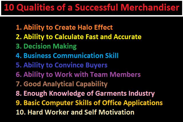 qualities of a good merchandiser