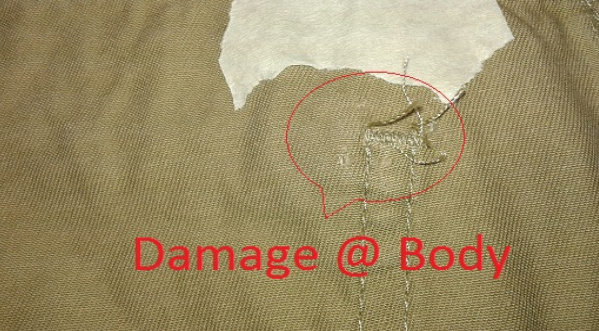 types of garments defects