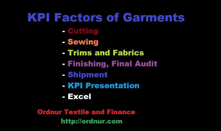 KPI Factors of Garments