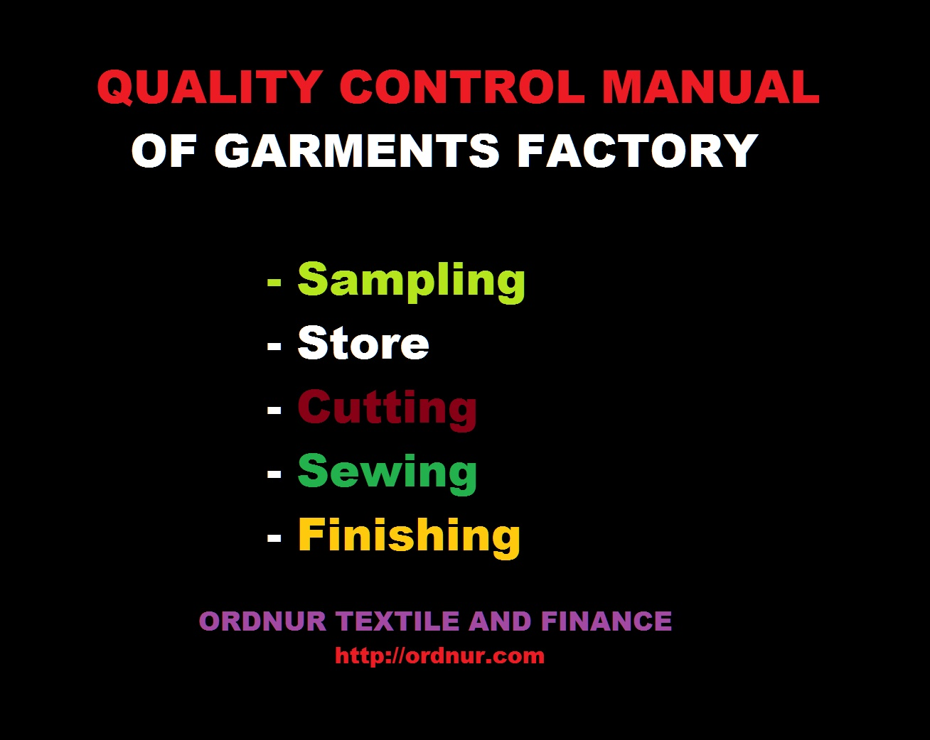 Quality Control Manual of Garments Factory and Its Working