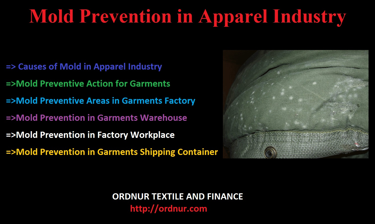 Mold Prevention in Apparel Industry - ORDNUR TEXTILE AND FINANCE