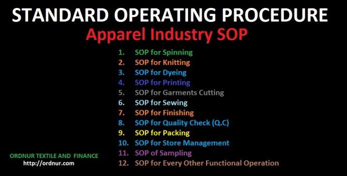Apparel Industry SOP