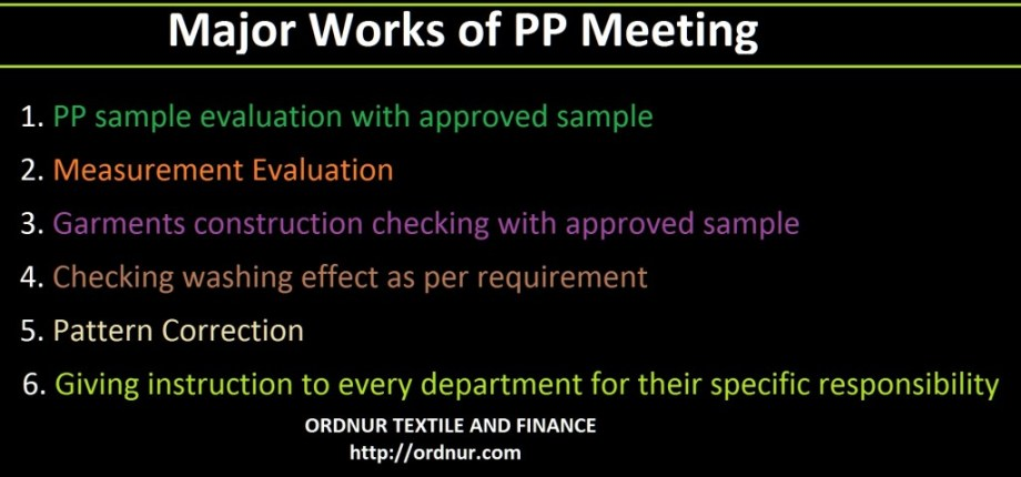 Major Works of PP Meeting