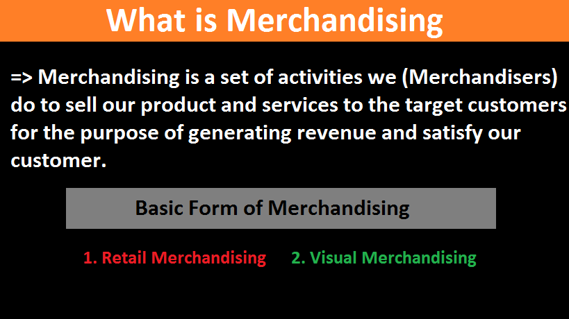What is Merchandising