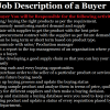 Buyer Job Description