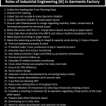 Roles of Industrial Engineering in Garments Factory