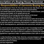 Duties and Job Responsibilities of Garments Buying House Technician, Job Description of Garments Buying House Technician