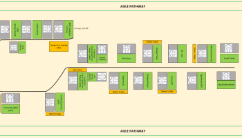 Conventional Layout Vs Rail Line Layout System of Garments Finishing Unit