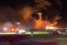 Explosions at the American airport thousand cars burned down