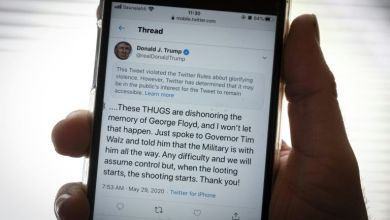 Photo of Twitter hides a tweet from Trump who wants to trim the wings of the network