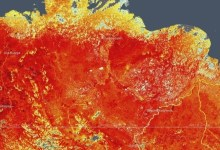 In Siberia methane may start to be released due to temperature increase