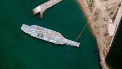 Photo of Something reminiscent of an aircraft carrier was discovered off the coast of Iran