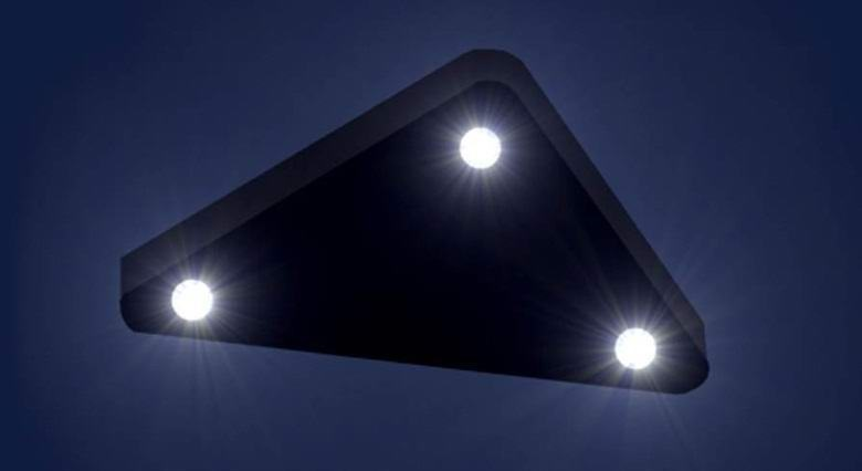 Huge triangular UFO