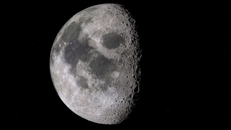 what a strange substance could be found on the dark side of the moon