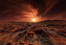 Egyptian hieroglyphs on the surface of Mars