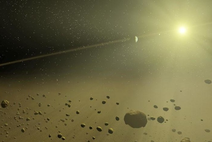 The wreckage of one planet was discovered all over the Earth