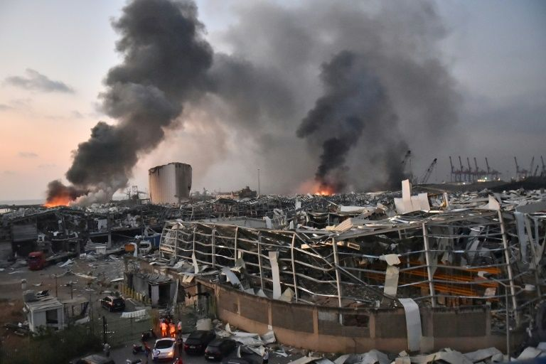 powerful explosions in Beirut