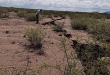 A giant crack forms in the Mexican Jimenez desert