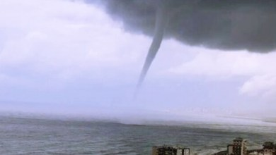 Photo of Waterspout off the coast of Beirut, Lebanon