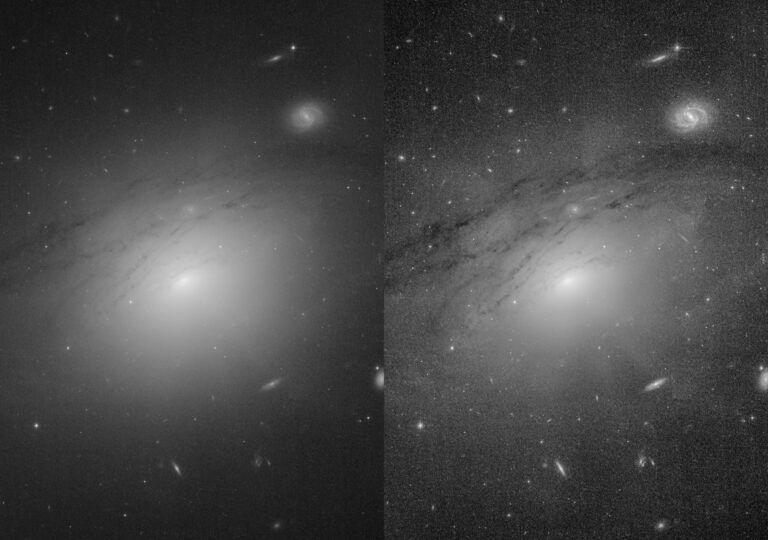 Astronomers took a close look at images of the galaxy IC 5063 taken by NASA ESA